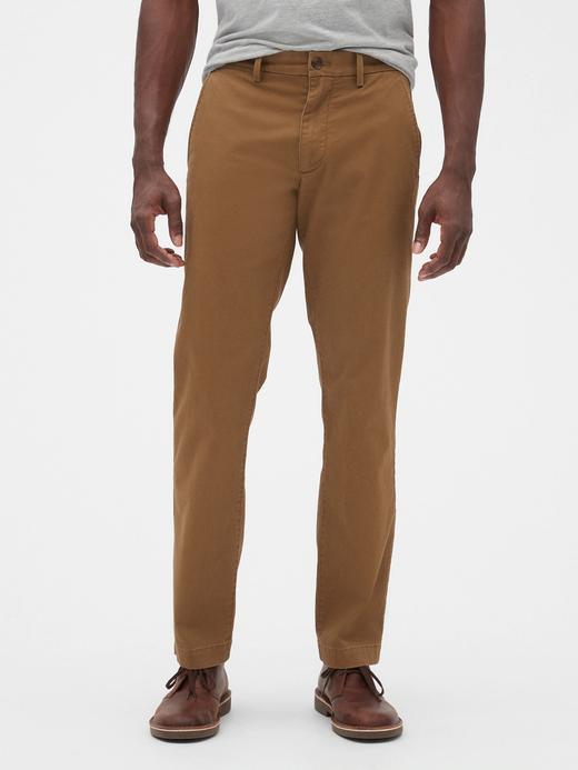 Erkek Kahverengi Straight Fit Jean Pantolon