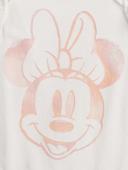 Kız Bebek Beyaz babyGap   %100 Organik Pamuklu Disney Minnie Mouse Bodysuit