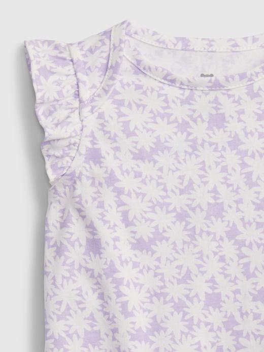Kız Bebek Mavi %100 Organik Pamuklu Baskılı Bodysuit