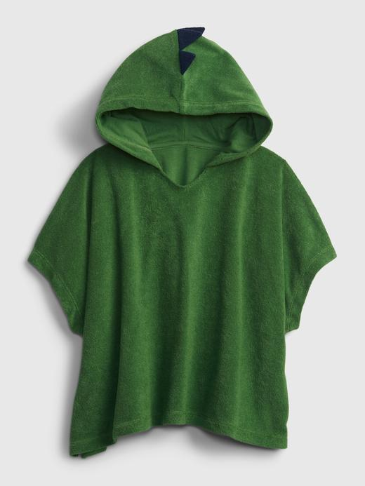 Erkek Bebek Yeşil Erkek Çocuk | 3D Dinozor Desenli Kapüşonlu Havlu