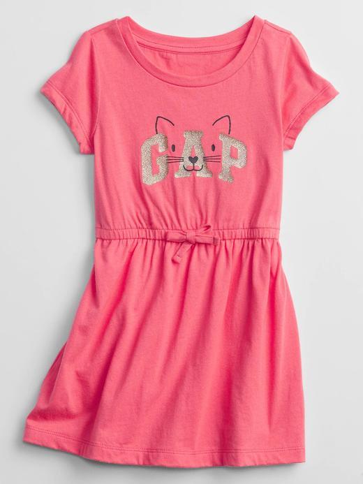Kız Bebek Pembe Gap Logo Elbise