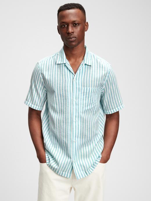 Erkek Yeşil Çizgili Gömlek