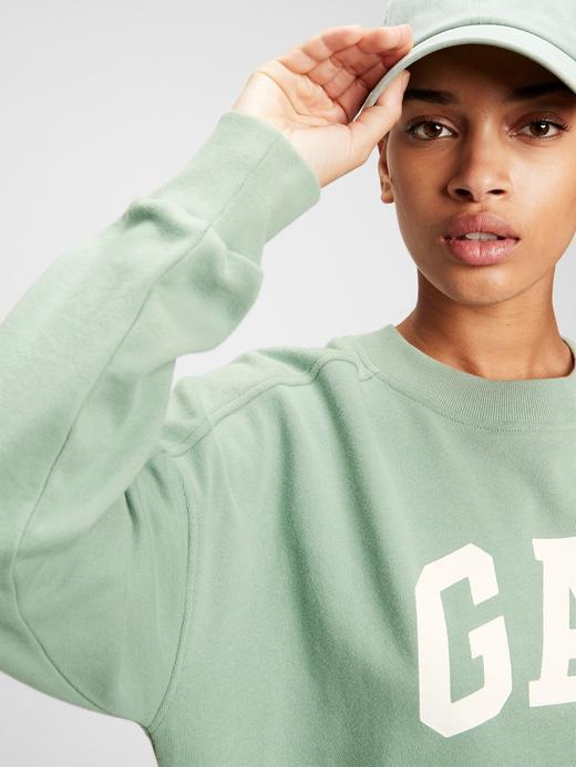 Kadın Sarı Gap Logo Sweatshirt