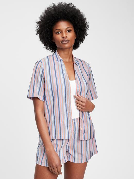 Kadın Çok Renkli Poplin Pijama Gömlek