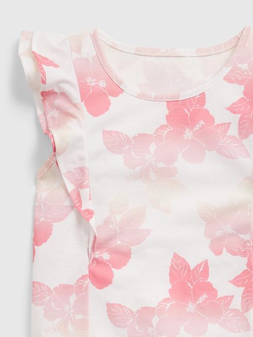 Kız Çocuk Pembe Geri Dönüştürülmüş Polyesterden Üretilmiş Pijama Takımı