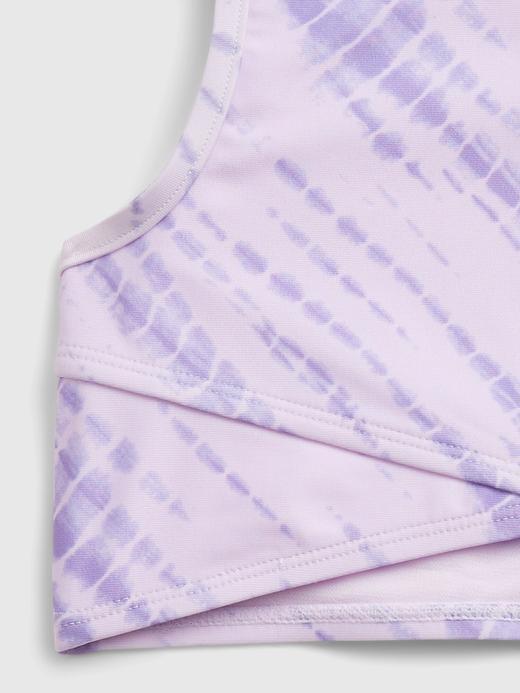 Kız Çocuk Mor Tie-Dye Bikini Seti