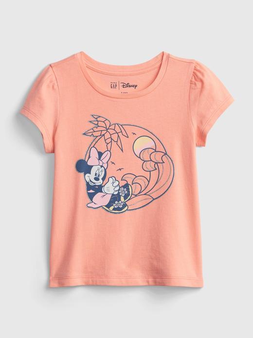 Kız Bebek Pembe Disney Minnie Mouse Grafik Desenl T-Shirt
