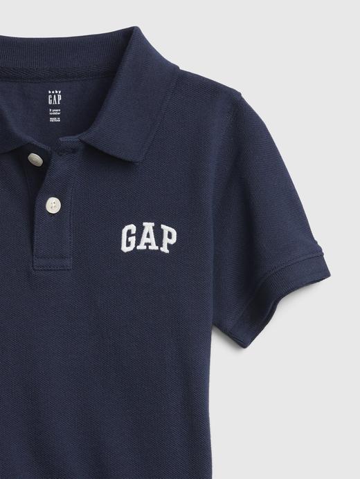 Erkek Bebek Lacivert Gap Logo Polo Yaka Tshirt