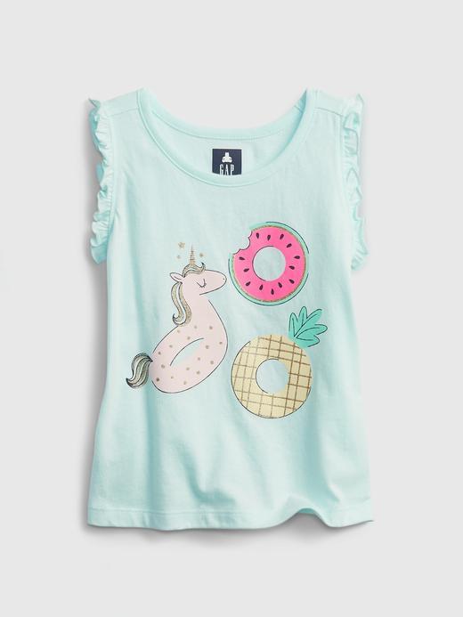 Kız Bebek Yeşil Organik Pamuk  Grafik Desenli T-Shirt