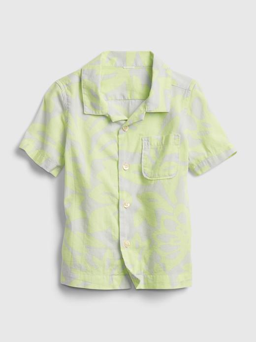 Erkek Bebek Sarı Desenli Gömlek