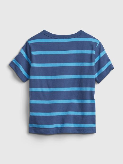 Erkek Bebek Pembe Organik Pamuklu Gap Logo T-Shirt