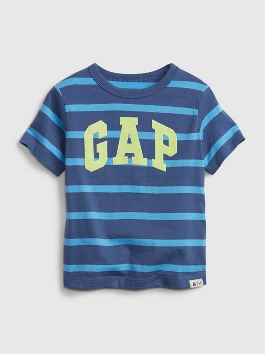 Erkek Bebek Mavi Organik Pamuklu Gap Logo T-Shirt