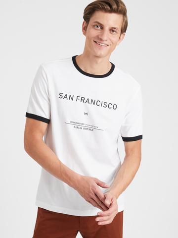 Erkek Siyah Logo T-Shirt