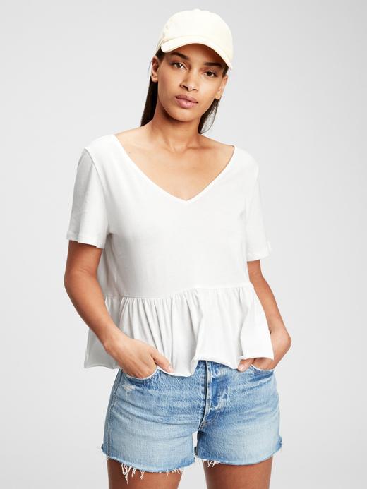 Kadın Beyaz Vintage  T-Shirt