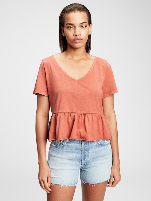 Kadın Turuncu Vintage  T-Shirt