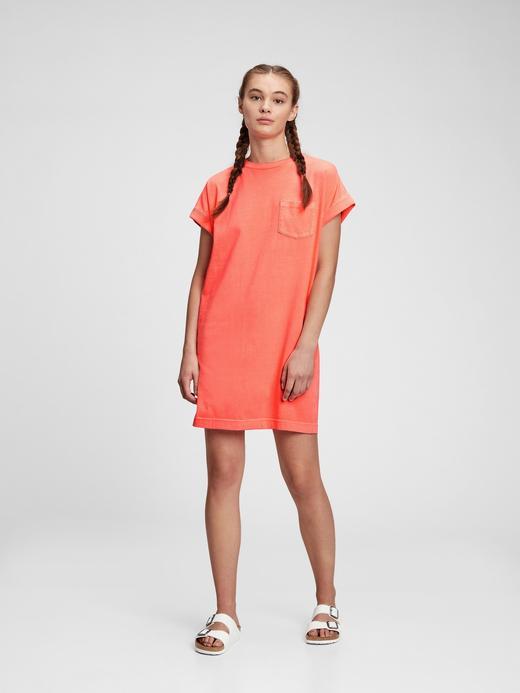 Kadın turuncu T-Shirt Elbise