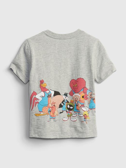 Erkek Bebek Gri Grafik Desenli T-Shirt
