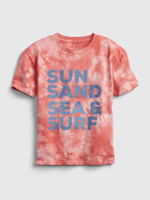 Erkek Çocuk Turuncu Grafik Desenli T-Shirt