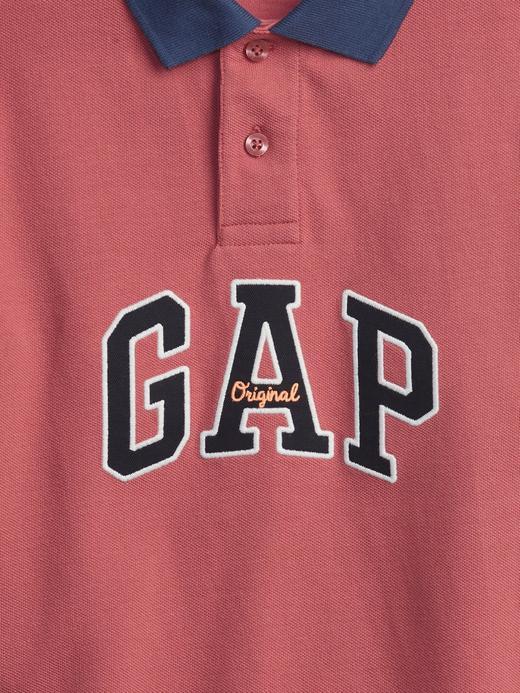 Erkek Çocuk Pembe Gap Logo Polo Yaka Tshirt,