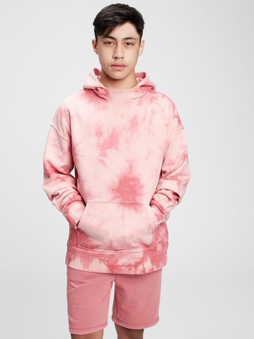 Erkek Çocuk Pembe Tie-Dye  Sweatshirt