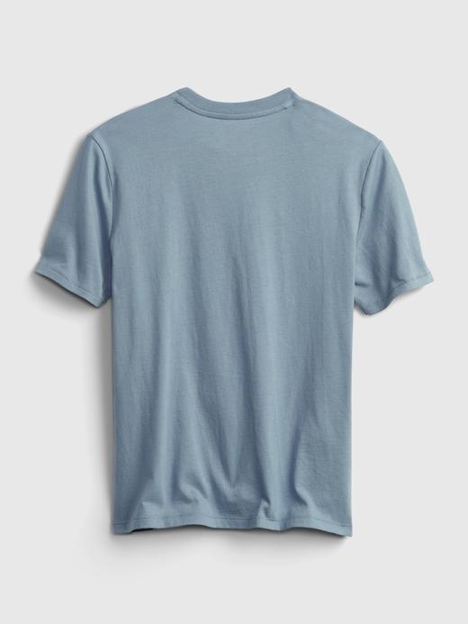 Erkek Çocuk Mavi National Geographic Grafik Desenli T-Shirt