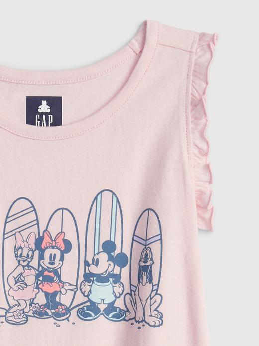 Kız Bebek Pembe Disney Mickey Mouse Oragnik Pamuklu T-Shirt