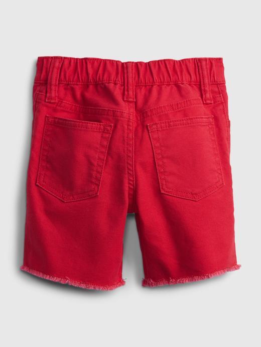 Erkek Bebek Kırmızı Pull-On Denim Şort