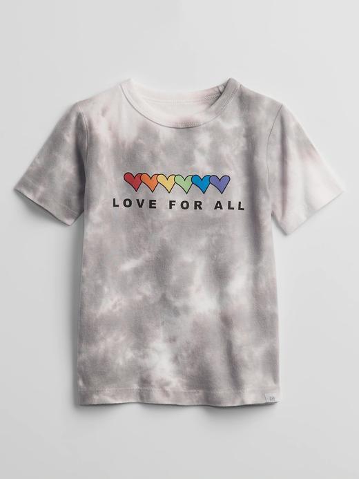 Erkek Bebek gri Organik Pamuklu Grafik Desenli T-Shirt