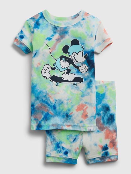 Kız Bebek Çok Renkli Disney Mickey Mouse Tie-Dye Pijama Takımı
