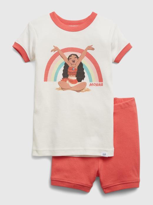Kız Bebek Kırmızı Disney Moana  Grafik Desenli Pijama Takımı