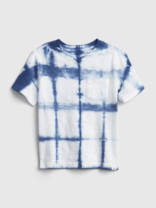 Erkek Bebek Mavi Grafik Desenli T-Shirt