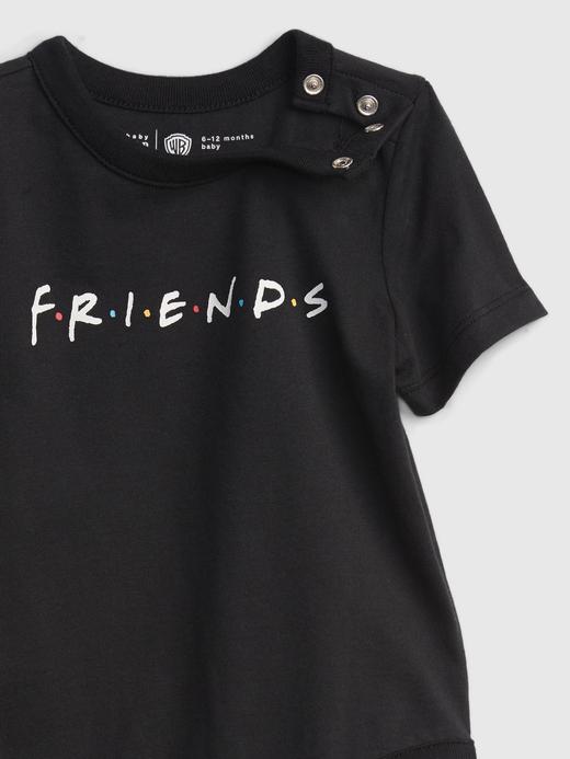 Kız Bebek Siyah Friends Logo Body