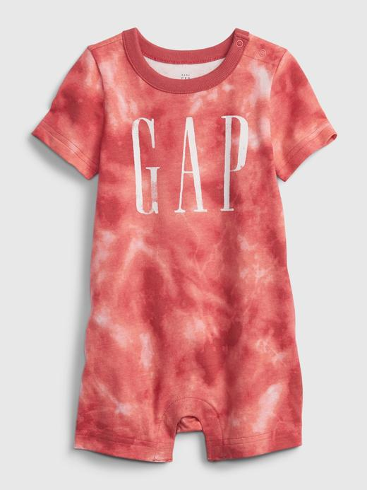 Erkek Bebek Kırmızı Tie-Dye Gap Logo Tulum