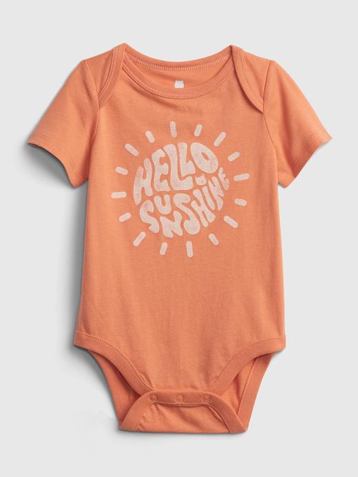 Erkek Bebek pembe Organik Pamuklu Grafik Desenli Body