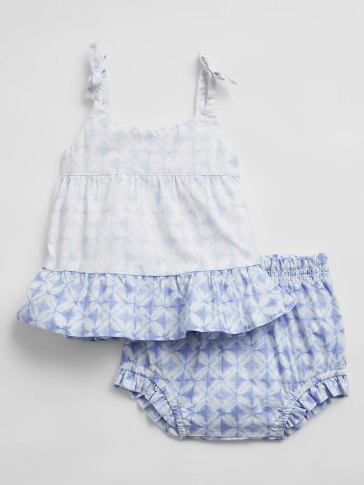 Kız Bebek Mavi Çizgili Takım