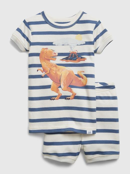 Kız Bebek Lacivert Dinozor Desenli Pijama Takım