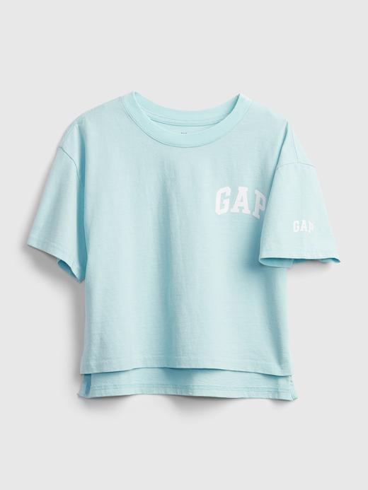 Kız Çocuk Mavi Gap Logo T-Shirt