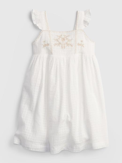 Kız Bebek Beyaz Askılı Elbise