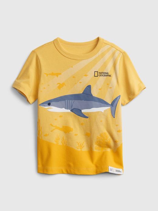 Erkek Bebek Sarı National Geographic Organik Pamuklu Grafik T-Shirt