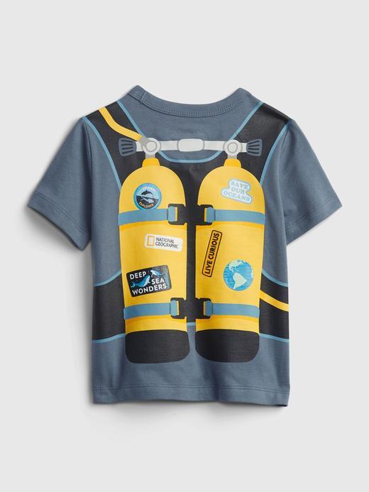 Erkek Bebek Lacivert National Geographic Organik Pamuklu Grafik T-Shirt