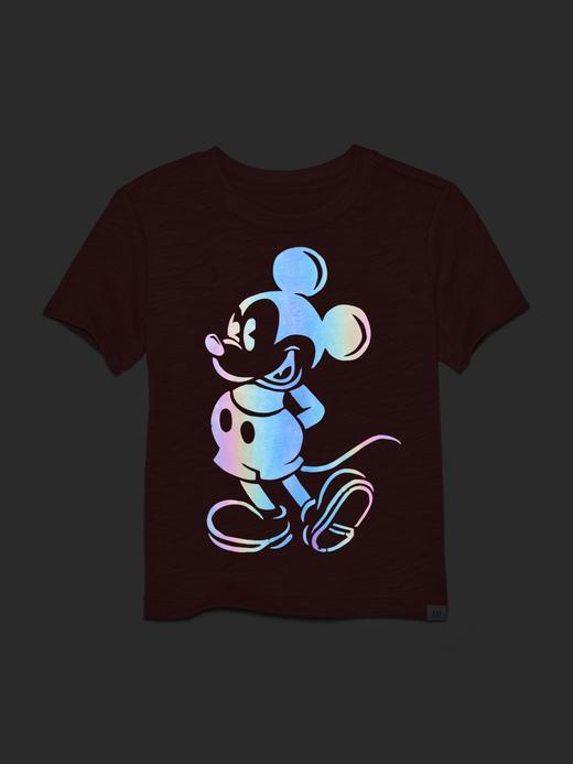 Erkek Bebek Kırmızı Disney Mickey Mouse Grafik Desenli T-Shirt