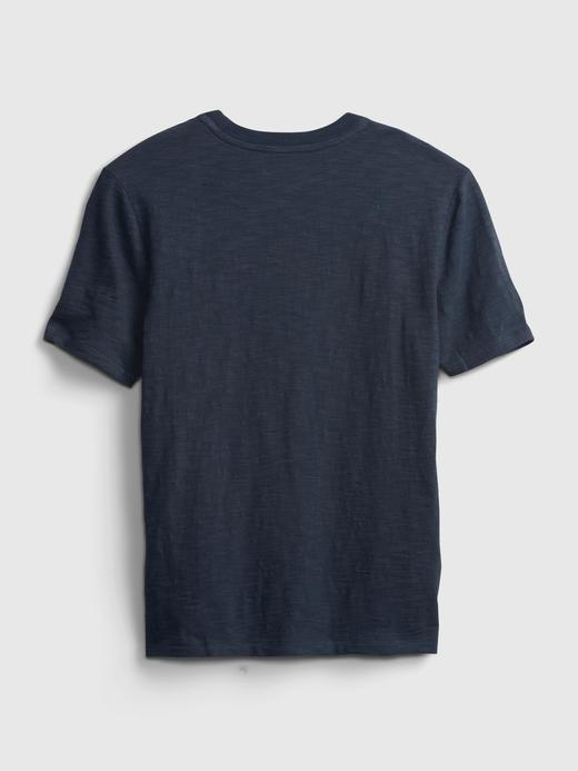 Erkek Çocuk Lacivert Gap Logo Kısa Kollu  T-Shirt