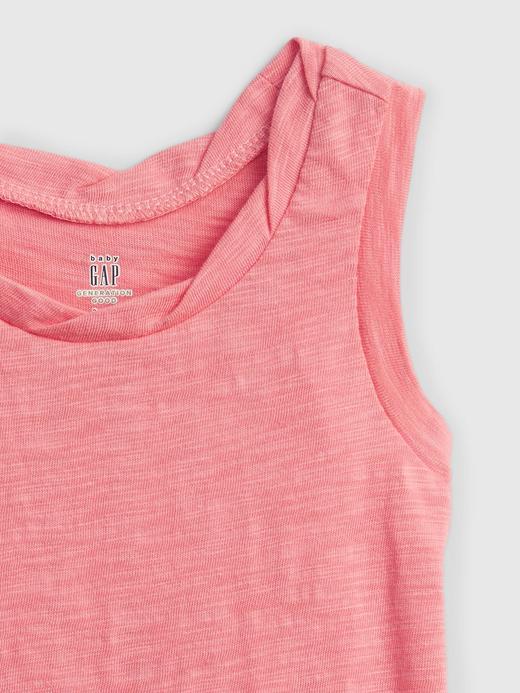 Kız Bebek Pembe Askılı T-Shirt