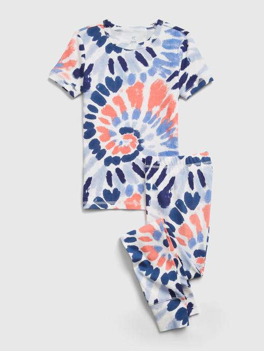 Erkek Çocuk Çok Renkli Organik Pamuklu Tie-Dye  Pijama Seti