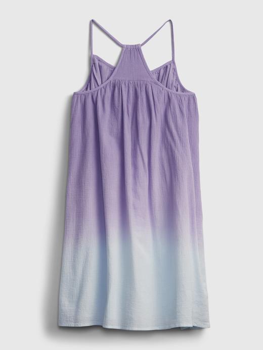 Kız Çocuk Mor Renk Geçişli Elbise