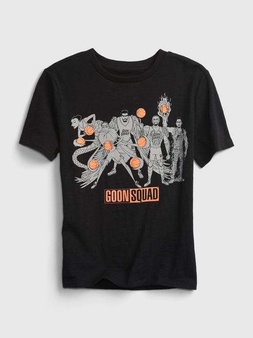 Erkek Çocuk Siyah Space Jam Grafik Desenli T-Shirt