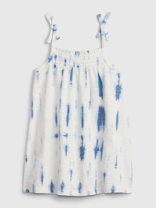Kız Bebek Mavi Tie-Dye Elbise