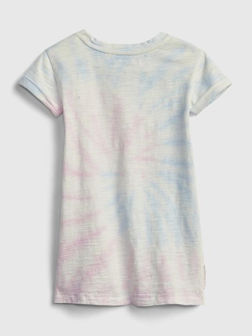Kız Bebek Pembe Grafik Desenli T-Shirt Elbise