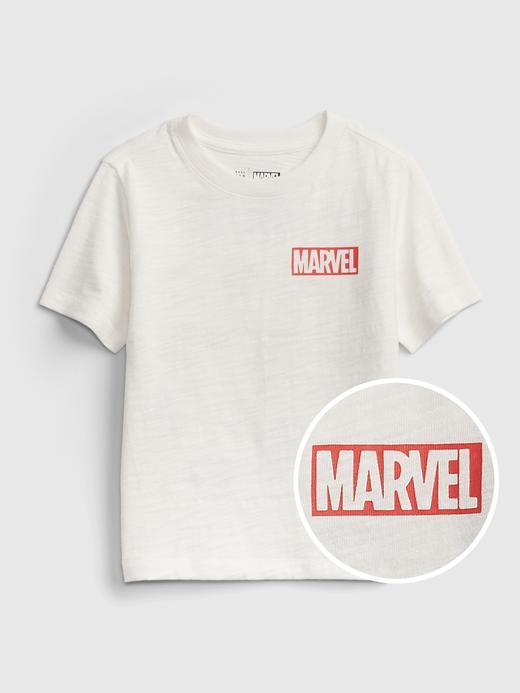 Erkek Bebek Beyaz Marvel  Grafik Desenli T-Shirt