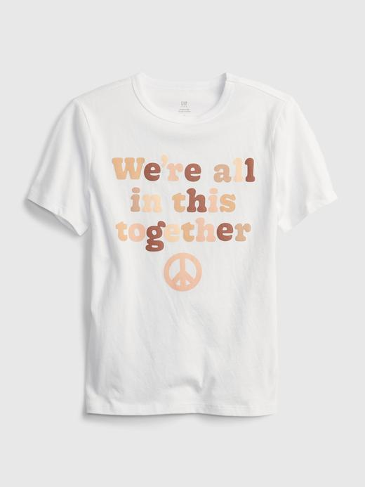 Erkek Çocuk beyaz Oranik Pamuklu Grafik Desenli T-Shirt